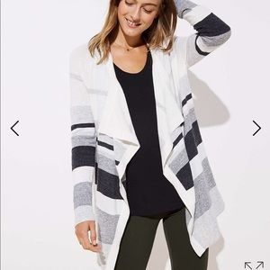 LOFT NWT open draped cardigan